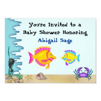 Unter Seefischen lädt die Babyparty für Jungen ein 12,7 X 17,8 Cm Einladungskarte