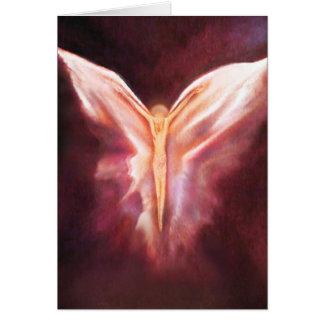 Unter seinen Flügeln Grußkarte