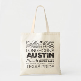 Untergrundbahn-Kunst-Tasche Austins Texas - Tragetasche