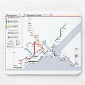 Untergrundkarte über Istanbul, die Türkei Mousepad