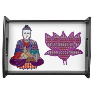 Unterhalten Sie in der Yoga-Meditation Art BUDDHAS Tabletts