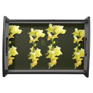 Unterhalten Sie in romantischer Auswahl Blume der Tabletts