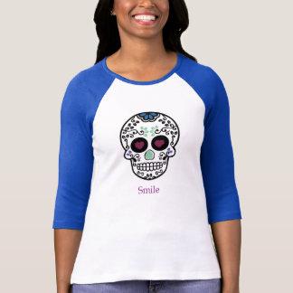 Unterhemd mit heiligem Blau und dem Totenkopf von