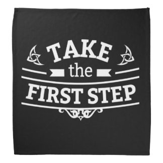 Unternehmen Sie den ersten Schritt Halstuch