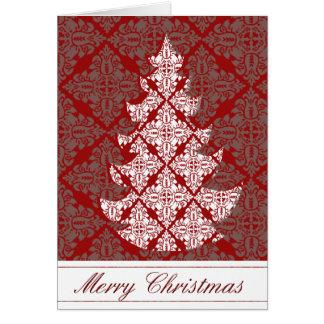 Unternehmensfeiertags-Damast-Weihnachtsbaum Karte