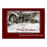 Unternehmenstraktor-Weihnachtskarte