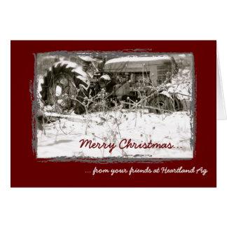 Unternehmenstraktor-Weihnachtskarte Grußkarte