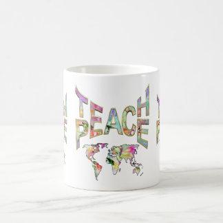 Unterrichten Sie Frieden Kaffeetasse