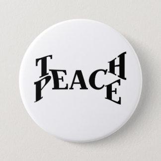 Unterrichten Sie Frieden Runder Button 7,6 Cm