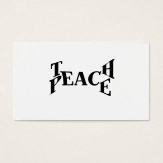 Unterrichten Sie Frieden Visitenkarte