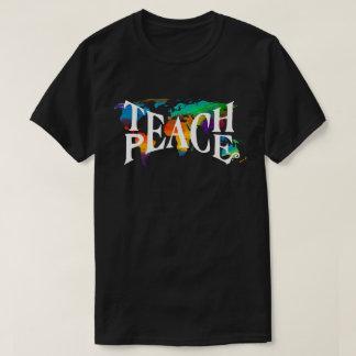 Unterrichten Sie Friedensgefärbte Krawatte 🌎 T-Shirt