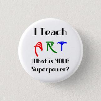 Unterrichten Sie Kunst Runder Button 3,2 Cm