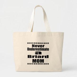 Unterschätzen Sie nie Briard Mamma Jumbo Stoffbeutel