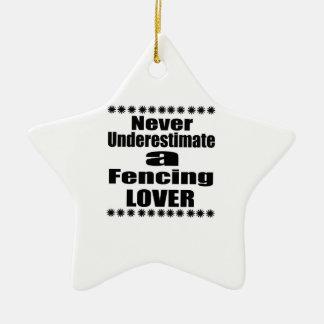 Unterschätzen Sie nie den Zaun des Liebhabers Keramik Stern-Ornament