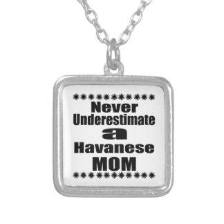 Unterschätzen Sie nie Havanese Mamma Versilberte Kette