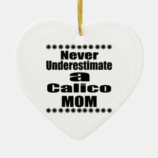 Unterschätzen Sie nie Kaliko-Mamma Keramik Herz-Ornament