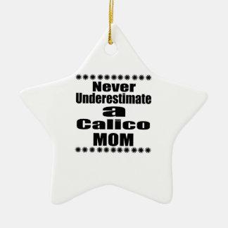 Unterschätzen Sie nie Kaliko-Mamma Keramik Stern-Ornament