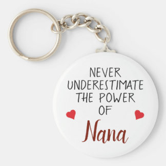 Unterschätzen Sie nie Nana personalisiertes Schlüsselanhänger