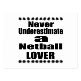 Unterschätzen Sie nie Netball-Liebhaber Postkarte