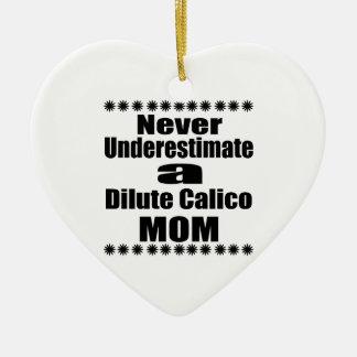 Unterschätzen Sie nie verdünnte Kaliko-Mamma Keramik Herz-Ornament