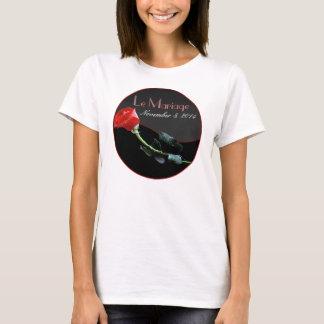 Unterscheidende informelle Hochzeits-Kleidung T-Shirt