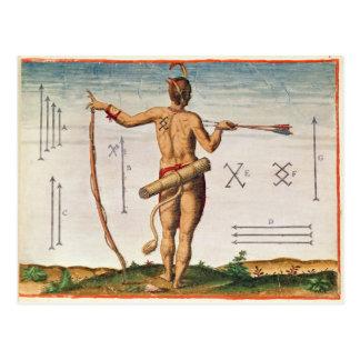 Unterscheidende Markierungen eines Kriegers von Postkarte