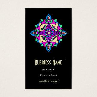 Unterscheidende rosa, blaue, Sahne-, schwarze Visitenkarte