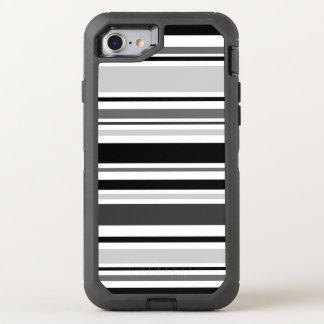 Unterscheidende schwarze, graue, weiße Streifen OtterBox Defender iPhone 8/7 Hülle