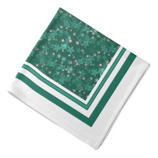 Unterscheidendes Grün spielt Bandana die Halstuch