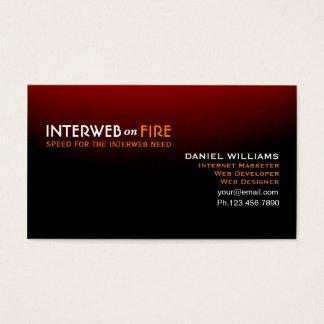 Unterscheidendes Schwarzes zum roten Internet-Netz Visitenkarte