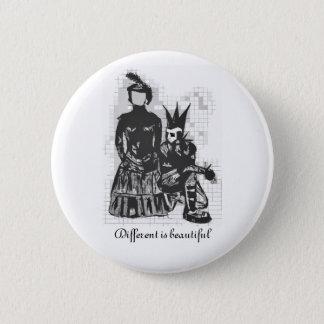 """""""Unterschiedlich durch Natur"""" Knopf Goth Themed Runder Button 5,7 Cm"""