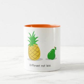 Unterschiedlich nicht kleiner - Tasse (orange)