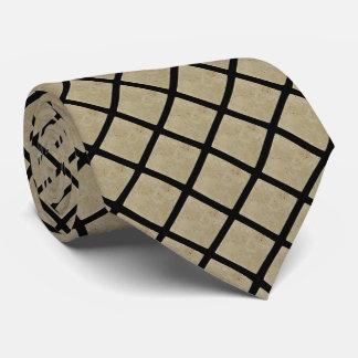 Unterschriften-Travertin-Fliesen-Muster-Krawatte Bedruckte Krawatte
