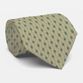 Unterschriften-Türkis-Makropunkt-Muster-Krawatte Krawatten