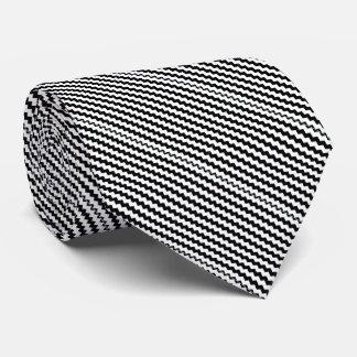 Unterschriften-Zickzack Streifen-Krawatte Personalisierte Krawatten