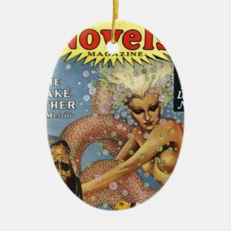 Unterseeische Schlangen-Leute Ovales Keramik Ornament