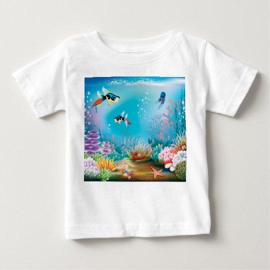 Unterseeisches Leben Baby T-shirt