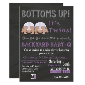 Unterseiten Up Zwillinge Baby-q Karte