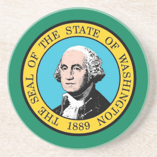 Untersetzer mit Flagge von Washington, USA