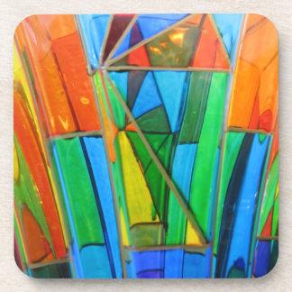 Untersetzer--Murano Glasorange Getränkeuntersetzer