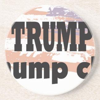 Unterstützung Donald Trump mit diesem großen Sandstein Untersetzer