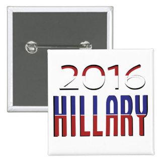 Unterstützung Hillary 2016 Quadratischer Button 5,1 Cm