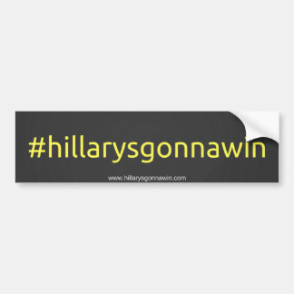 Unterstützung Hillary Clinton Autoaufkleber