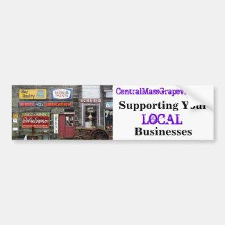Unterstützung Ihrer lokalen Geschäfte Autoaufkleber