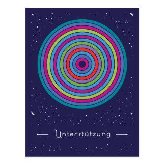 Unterstützung Postkarte