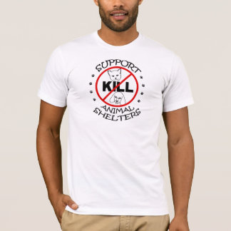 Unterstützungsc$no-tötung Tierschutz-Shirt T-Shirt