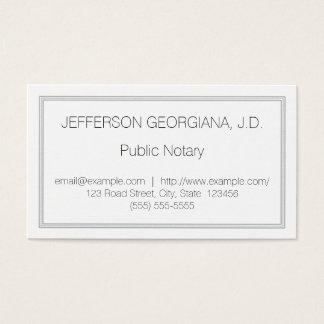 Untertriebene allgemeine Notar-Visitenkarte Visitenkarte