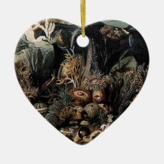Unterwasser Keramik Herz-Ornament