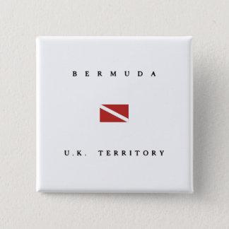 Unterwasseratemgerät-Tauchen-Flagge Bermudas Quadratischer Button 5,1 Cm