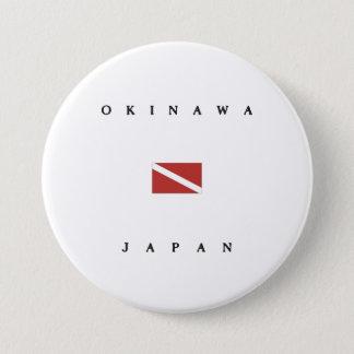 Unterwasseratemgerät-Tauchen-Flagge Okinawas Japan Runder Button 7,6 Cm